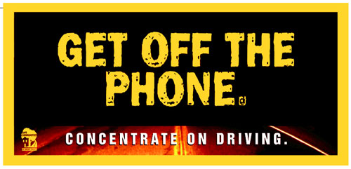 Get off the phone - concentrate on driving